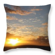 A Golden Sunrise - Singer Island Throw Pillow