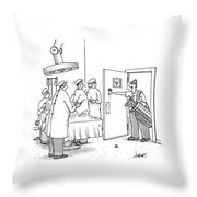 A Golfer Enters An Operating Room Where His Golf Throw Pillow