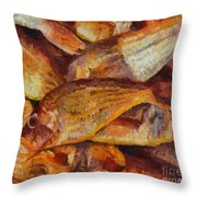 A Good Catch Of Fish Throw Pillow