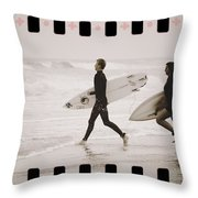 A Good Day To Surf Throw Pillow