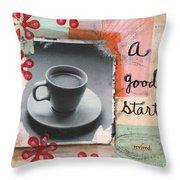 A Good Start Throw Pillow