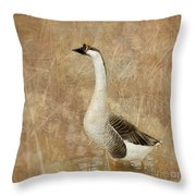 A Goose Is A Goose Throw Pillow by Betty LaRue