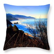 A Gorgeous Morning On The Pacific Throw Pillow