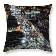 A Gothic Night In New Orleans On Canal Street Throw Pillow
