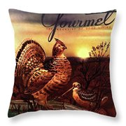 A Gourmet Cover Of A Turkey Throw Pillow