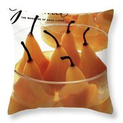 A Gourmet Cover Of Baked Pears Throw Pillow