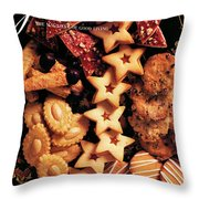 A Gourmet Cover Of Butter Cookies Throw Pillow