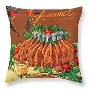 A Gourmet Cover Of Chicken Throw Pillow