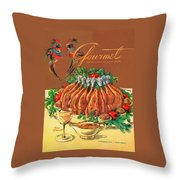A Gourmet Cover Of Chicken Throw Pillow by Henry Stahlhut