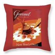 A Gourmet Cover Of Moch Mousse Throw Pillow
