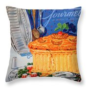 A Gourmet Cover Of Pate En Croute Throw Pillow