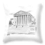 A Government Building Is Seen With A Now Hiring Throw Pillow