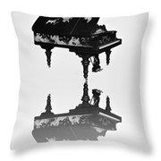 A Grand Piano Throw Pillow