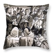 A Great Day In The Usa Throw Pillow by CL Doughty