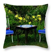 A Great Place For Lunch Throw Pillow