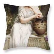 A Grecian Beauty Throw Pillow