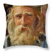 a Greek Portrait Throw Pillow