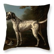 A Grey Spotted Hound Throw Pillow