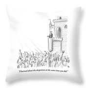 A Group Of Angry Townspeople Rebel Throw Pillow