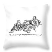 A Group Of Drinking And Smoking Men Gather Throw Pillow