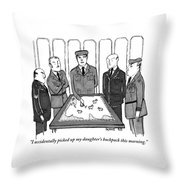 A Group Of Generals Are Seen In The War Room Throw Pillow