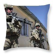 A Group Of U.s. Army Soldiers Provide Throw Pillow