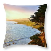 A Gualala Getaway  Throw Pillow