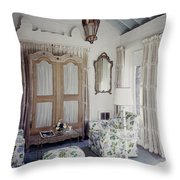 A Guest Room At Hickory Hill Throw Pillow