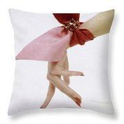A Hand With A Wrist Scarf Throw Pillow
