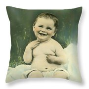 A Happy Baby Throw Pillow