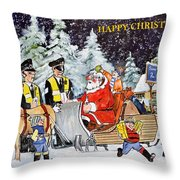 A Happy Christmas Throw Pillow