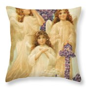 A Happy Easter 1908 German Postcard Throw Pillow