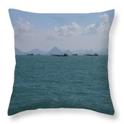 A Hard Day At The Office Throw Pillow