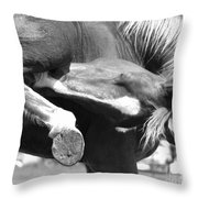 A Hard To Reach Itch Bw Throw Pillow