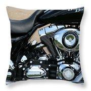 A Harley In Arlington Throw Pillow