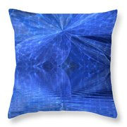 A Healing In Blue Living Waters Throw Pillow