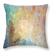 A Heart So Big - Abstract Art Throw Pillow by Jaison Cianelli