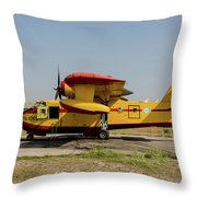 A Hellenic Air Force Canadair Cl-215 Throw Pillow
