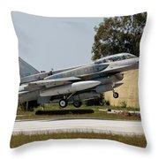 A Hellenic Air Force F-16d Block 52+ Throw Pillow