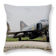 A Hellenic Air Force F-4e Phantom Throw Pillow