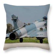 A Hellenic Air Force Mirage 2000 Egm Throw Pillow