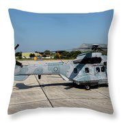 A Hellenic Air Force Super Puma Search Throw Pillow
