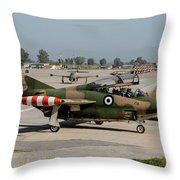 A Hellenic Air Force T-2 Buckeye Throw Pillow