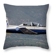 A Hellenic Air Force T-6 Trainer Flying Throw Pillow