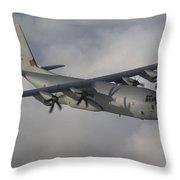 A Hercules C130j Transport Aircraft  Throw Pillow