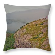 A High Point On Signal Hill National Historic Site In Saint John's-nl Throw Pillow