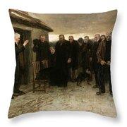 A Highland Funeral Throw Pillow