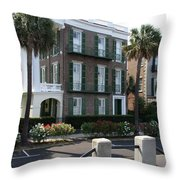 A Historic Home On The Battery - Charleston Throw Pillow