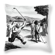 A Hole In One! Me! I'm Going Cra-zy! Throw Pillow