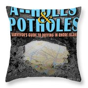 A--holes And Potholes Book Cover Throw Pillow